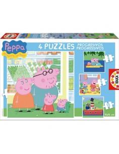 Puzzles progresivos Peppa Pig 6 9 12 16