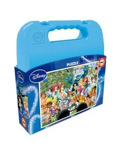 Puzzle Personajes Disney maleta 100pz