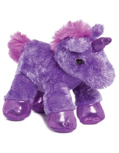 Peluche Unicornio Lila Mini Flopsies 21cm