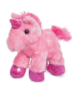 Peluche Unicornio Rosa Mini Flopsies 21cm