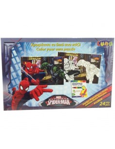 Puzzle Spiderman Marvel coloreable 24pz
