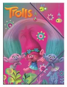Carpeta Trolls A4 gomas