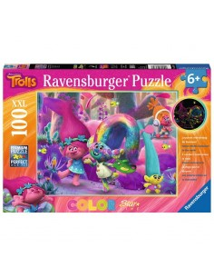 Puzzle XXl Trolls Pelo brillante 100pz