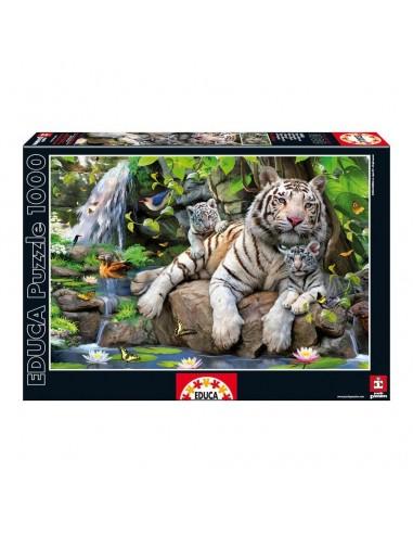 Puzzle Tigres Blancos Bengala 1000pz