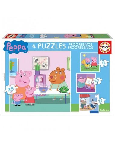 Puzzles progresivos Peppa Pig 12 20 25 25pz