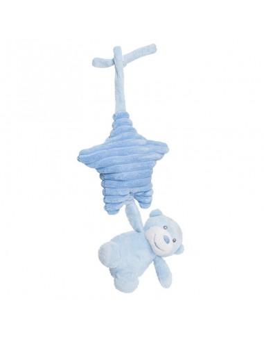 Peluche Oso musical Aurora Baby azul colgante 31cm