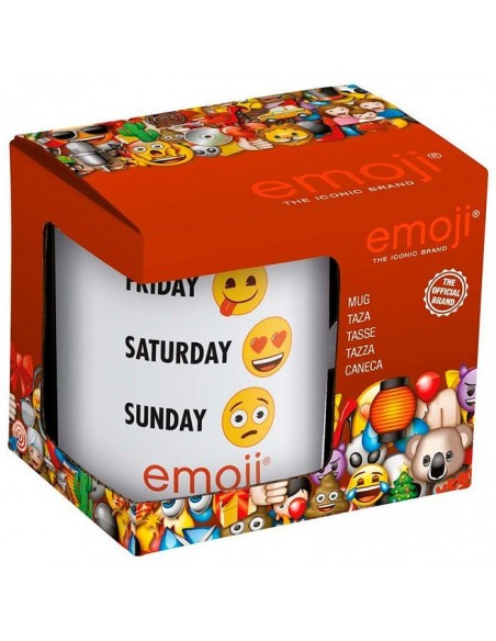 Taza Emoji Week ceramica