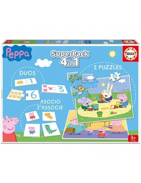 Super pack 4 en 1 Peppa Pig