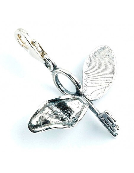 Colgante charm Flying Key Harry Potter plata - Imagen 1