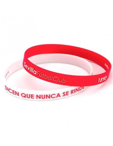 Pulsera embossed Sevilla FC rojo blanco junior - Imagen 2