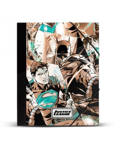Carpeta A4 Mochila Liga de la Justicia DC Comics gomas - Imagen 1
