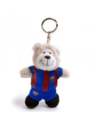 Llavero Peluche Osito oficial del F.C. Barcelona