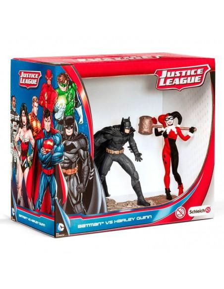 Figuras Batman vs Harley Quinn Liga de la Justicia DC Comics - Imagen 1