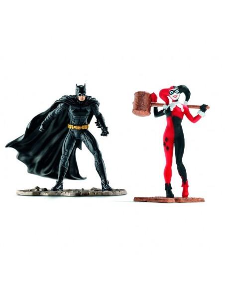 Figuras Batman vs Harley Quinn Liga de la Justicia DC Comics - Imagen 2