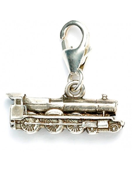 Colgante charm Hogwarts Express Train Harry Potter plata - Imagen 3