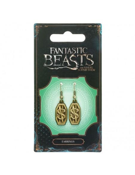 Pendientes Newt Scamander Logo Animales Fantasticos - Imagen 2