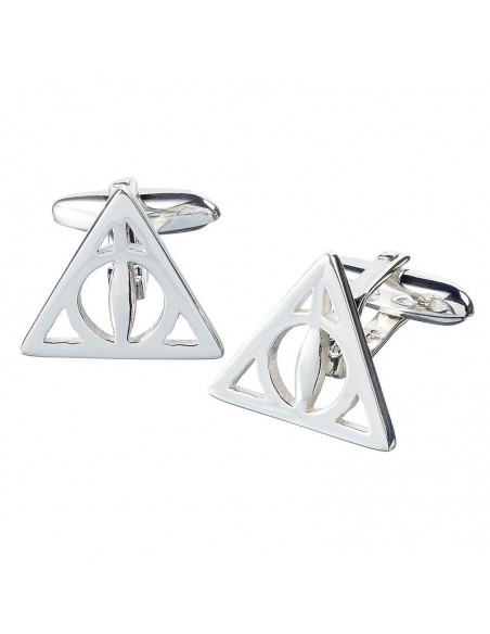 Gemelos Deathly Hallows Harry Potter plata - Imagen 1