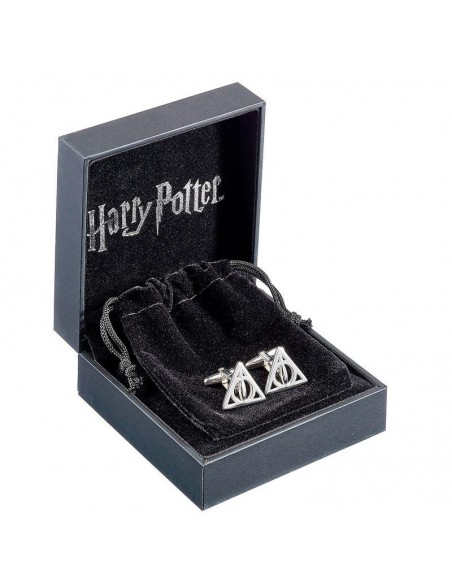 Gemelos Deathly Hallows Harry Potter plata - Imagen 2