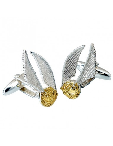 Gemelos Golden Snitch Harry Potter plata - Imagen 1