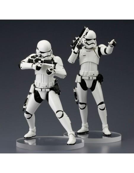 Set figuras Stormtrooper First Order Star Wars ARTFX+ - Imagen 5