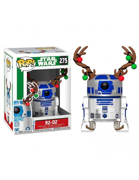 Figura POP Star Wars Holiday R2-D2 with Antlers - Imagen 1