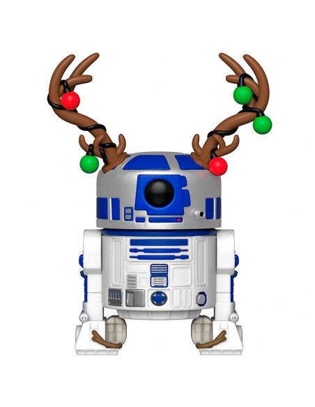 Figura POP Star Wars Holiday R2-D2 with Antlers - Imagen 2