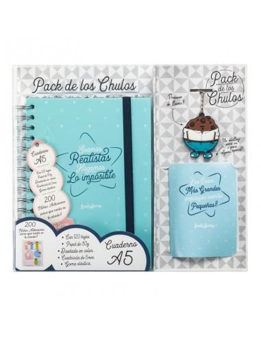 Set regalo Cuaderno A5 + tarjeta + llavero Realistas - Imagen 1
