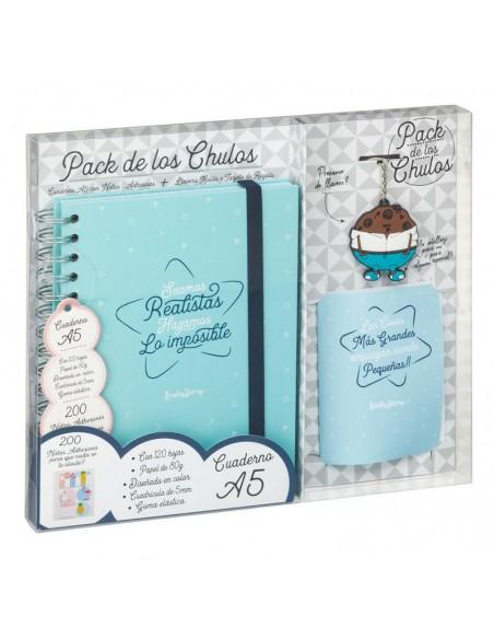 Set regalo Cuaderno A5 + tarjeta + llavero Realistas - Imagen 3