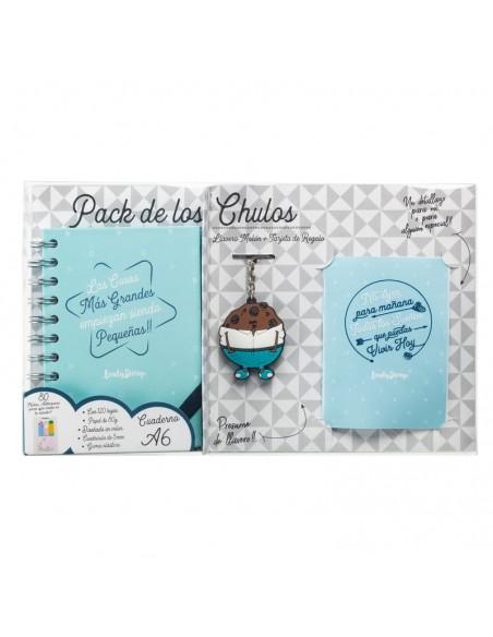 Set regalo Cuaderno A6 + tarjeta + llavero Cosas - Imagen 1