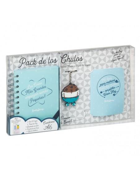 Set regalo Cuaderno A6 + tarjeta + llavero Cosas - Imagen 3