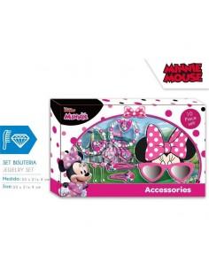 Set regalo gafas sol, accesorios pelo y bisuteria de Minnie Mouse