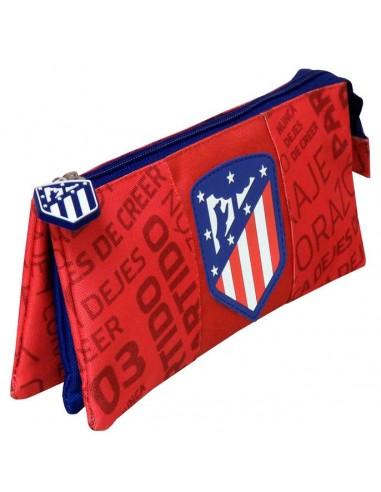 Estuche Portatodo Triple oficial del Atlético de Madrid