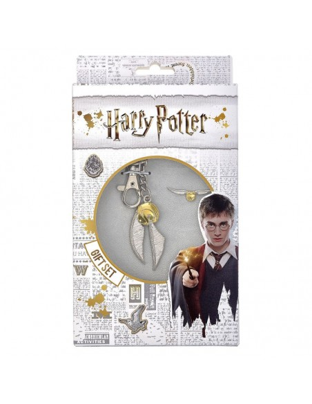 Set llavero + pin Golden Snitch Harry Potter - Imagen 1
