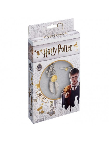 Set llavero + pin Golden Snitch Harry Potter - Imagen 2