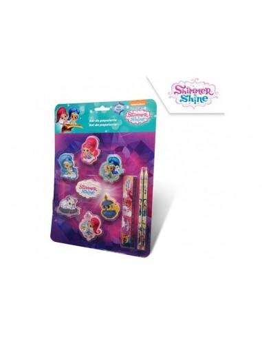 Set papelería de Shimmer y Shine 10 piezas