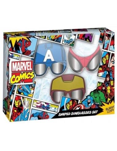 Set 3 Gafas de sol con máscara Marvel