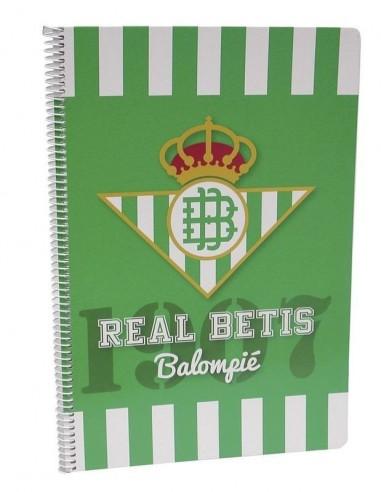 Cuaderno A4 del Real Betis Balompié