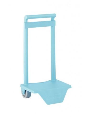 Carro para mochilas pequeñas Azul Celeste