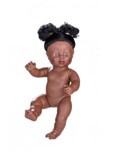 Muñecas Berjuan Newborn Niña Africana Sin Ropa