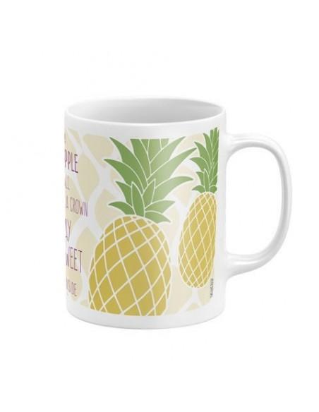Taza cerámica en caja de Zaska Pineapple