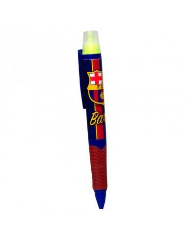 Bolígrafo F.C. Barcelona con marcador fluorescente