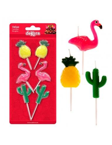 Blister vela Piña Flamenco Cactus - Imagen 1