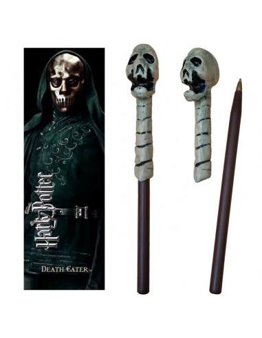 Comprar Varita boligrafo y marcapaginas Death Eater Skull Harry Potter
