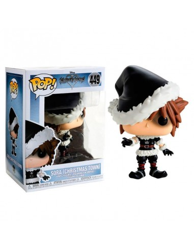 Figura POP Disney Kingdom Hearts Christmastown Sora Exclusive - Imagen 1