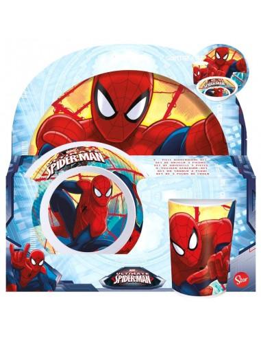 Set Desayuno / Comida de Spiderman Marvel.