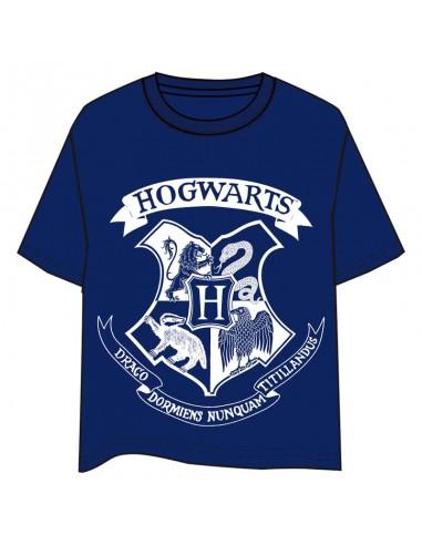 Camiseta Hogwarts Harry Potter adulto azul - Imagen 1