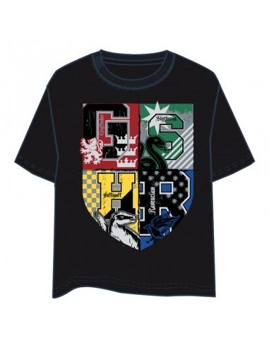Camiseta Hogwarts Harry Potter adulto negro - Imagen 1