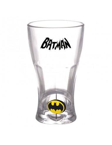 Vaso logo 3D giratorio de Batman DC Comics.