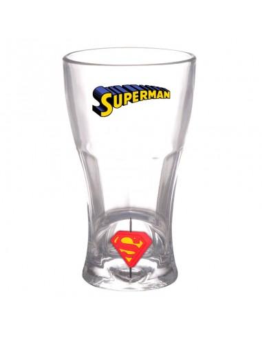 Vaso logo 3D giratorio de Superman DC Comics.