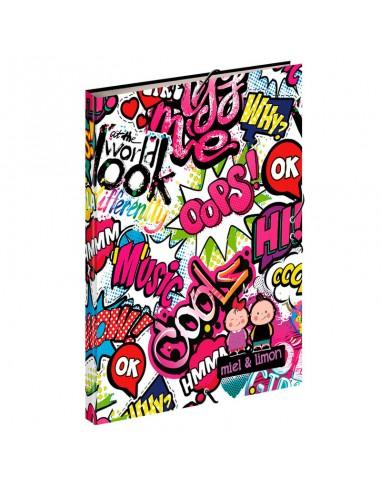 Carpeta A4 Perona Miel & Limon Kiss Me gomas - Imagen 1